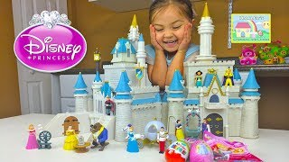 Download Huge Disney Princess Cinderella's Castle Toy Review and Opening Surprise Eggs Toys by Hailey Video