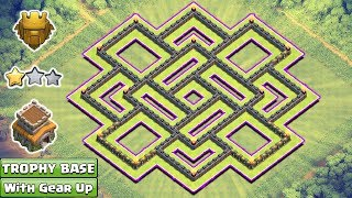 Download Clash of Clans Town Hall 8 Trophy Base With Gear Ups 2017 Video