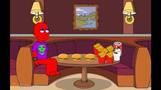 Download Evil Barney Gets Fat at McDonald's and Gets Grounded Video