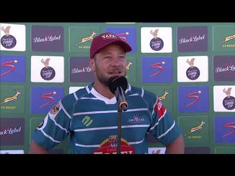 Currie Cup | Round 14 | Tafel Lager Griquas v New Nation Pumas | Interview with Ruan Steenkamp