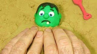 Download BabyHulk playing sand 💕Superhero Play Doh Stop motion videos for kids Video