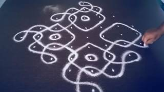 Download 9 pulli kolam 5 | Step by Step kolam | Kolam with Dots | Sikku Kolam Video