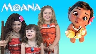 Download Moana Movie Songs Toys and FUN with Ava Isla and Olivia The Disney Toy Collector Video