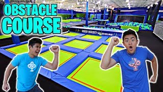 Download TRAMPOLINE PARK OBSTACLE COURSE! Video