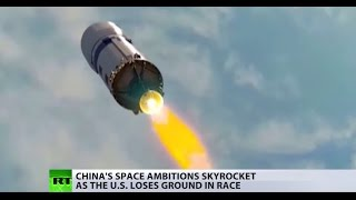 Download Red star rising? China's space ambitions skyrocket as the US loses ground in race Video