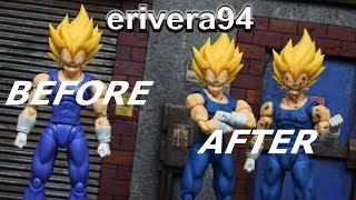 Download SH Figuarts Dragon Ball Z Battle Damage Majin Vegeta & Blue Repaint CUSTOM Action Figure Review Video