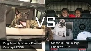 Download Nissan X-Trail 4Dogs vs Dog-Friendly Honda Element Car for Dogs Concept Video