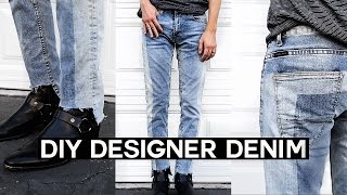 Download DIY Vetements Inspired Denim Jeans // Upcycled Denim Video