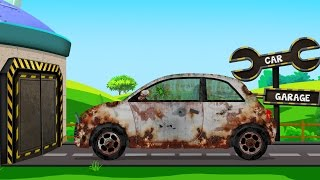 Download Compact Car | Rusty Garage | Car Garage | Trucks And Cars Video For Kids Video