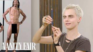 Download Cara Delevingne Draws Nude Models | Vanity Fair Video