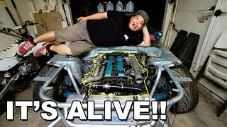 Download Firing up the 1JZ swapped S13!!! Video