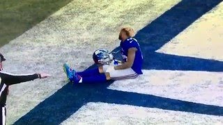 Download O'Dell Beckham knocked out of game. Giants vs. Jets. NY Bowl Video