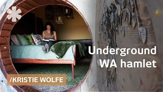 Download Kristie Wolfe builds underground home & sets rural WA hamlet Video