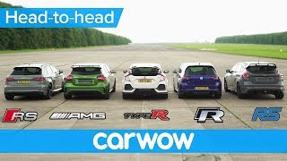 Download RS 3 v A45 AMG v Civic Type R v Golf R v Focus RS - DRAG & ROLLING RACE | Head-to-Head Video