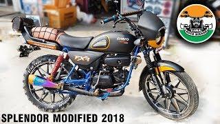 Download hero splendor modified like mini Harley Part-1 |2018 | Kamal auto nikhar & Graphics | Uttarakhand Video