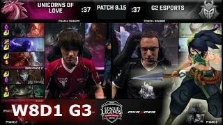 Download Unicorns of Love vs G2 eSports | Week 8 Day 1 S8 EU LCS Summer 2018 | UOL vs G2 W8D1 Video