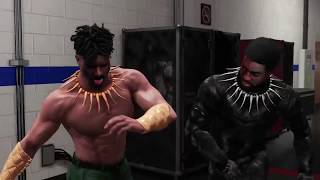 Download WWE 2K18 Black Panther Alt. Attire VS Killmonger Alt. Attire Backstage Brawl Video