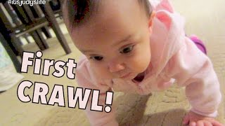 Download BABY'S FIRST CRAWL! - November 28, 2014 - itsJudysLife Daily Vlog Video