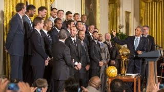 Download The 2014 NBA Champion San Antonio Spurs Visit the White House Video