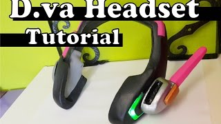 Download ''D.va Headset'' with LED's (FREE PATTERN) - Overwatch Cosplay Tutorial Video