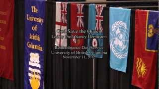 Download God Save the Queen at the 2012 UBC Remembrance Day Service Video
