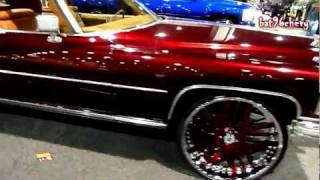 Download Candy Brandywine Cadillac Coupe De Ville on 26″ Asantis: V103 Car Show 2011 - HD Video