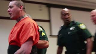 Download Graphic language: Daytona judge places screaming suspect in separate room Video
