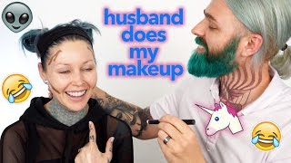 Download HUSBAND DOES MY MAKEUP CHALLENGE!! | KristenLeanneStyle Video