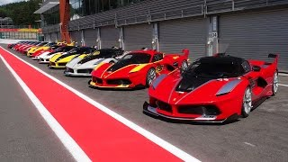 Download Ferrari Corse Clienti Spa - Ferrari FXX K, FXX + 599XX Evo Line up! Video