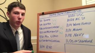 Download 2017 Notre Dame Football Predictions Video