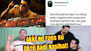 Download Akshay Kumar Letter To Fans Over Sooryavanshi Controversy Related To Salman And Rohit Shetty Video