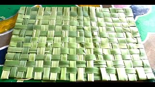 Download How to Make Mat with Palm Tree Leaves Video