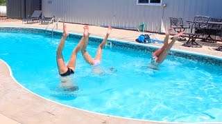 Download CHEER AND GYMNASTICS AT THE POOL! Video