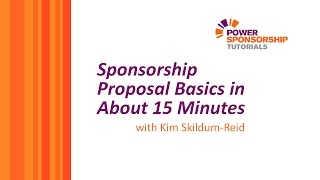 Download Sponsorship Proposal Basics in About 15 Minutes Video