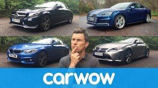 Download Audi A5 vs Mercedes C-Class Coupe vs BMW 4 Series vs Lexus RC | Head2Head Video