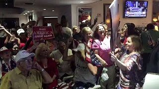 Download Trump supporters in Miami dance and cheer as results come in Video