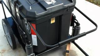 Download Large bike trailer for camping gear Video