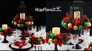 Download DIY Holiday Ornament Table Centerpiece Under $50!   DIY Christmas   DIY Christmas Tutorial Video