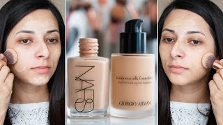 Download Nars Sheer Glow vs Giorgio Armani Luminous Silk: Battle of Foundations | Ysis Lorenna Video