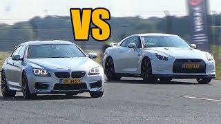 Download BMW M6 vs Nissan GTR R35 - DRAG RACE! Video