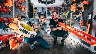 Download NERF WAR INSIDE WORLDS LARGEST $45,000.00 FORTRESS with Zach King! Video