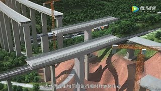 Download Zhouzhongzhai Bridge Rotation Construction Animation周中寨大桥转体施工动画 Video