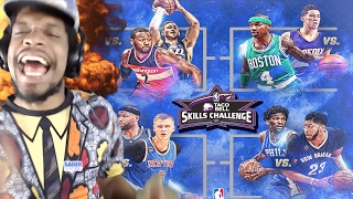 Download REGGIE MILLER ROAST TF OUTTA CARMELO!! NBA SKILLS CHALLENGE 2017 HIGHLIGHTS REACTION Video