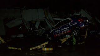 Download Central Missouri tornado wrecks car dealership Video