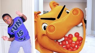Download HUNGRY HUNGRY HIPPO vs Shiloh and Shasha - Onyx Kids Video