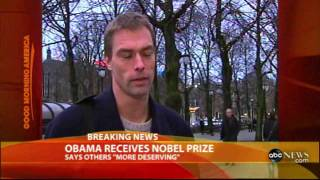 Download Jake Tapper on Obama 's Nobel Prize - ABC Newsobama Video
