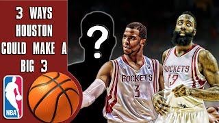 Download 3 ways the Rockets can create a big 3 with Chris Paul and James Harden! Video