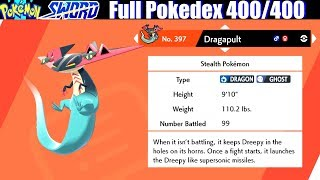 Download Pokemon Sword & Shield - Full Pokedex / All 400 Pokemon Video