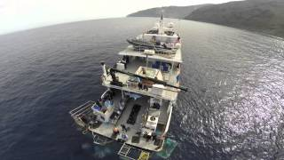 Download Isla Guadalupe Great White Shark from Drone DJI Phantom Go Pro Nautilus explorer Video