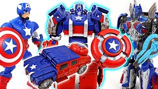 Download Marvel Captain America, Wolverine transformers appeared! Optimus Prime, Bumblebee - DuDuPopTOY Video